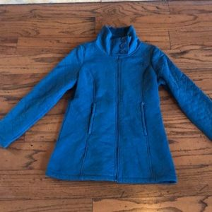 The North Face teal quilted walking warm jacket L